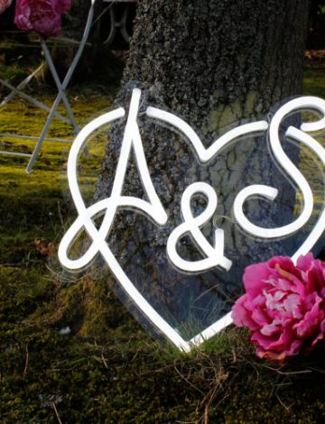 Bespoke Wedding Heart Neon