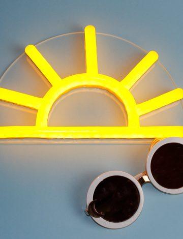 NEW small LED neon Sun
