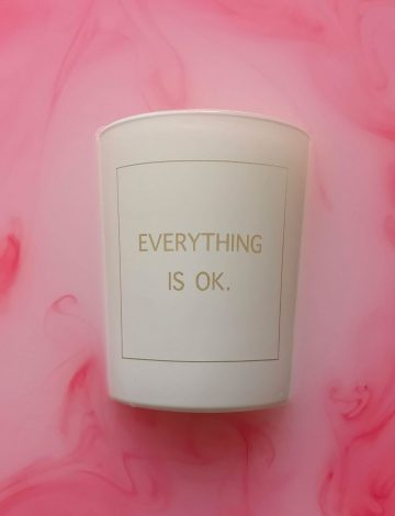 Everything is OK – Hand Poured, Scented Candle