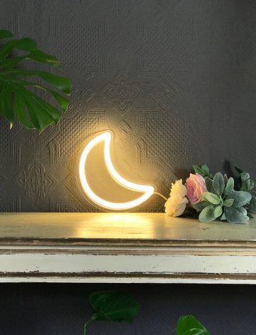 NEW small LED neon Moon