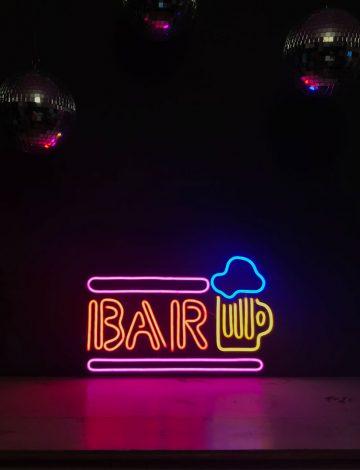 BAR Coloured Neon Sign