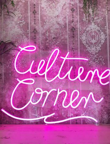 Culture Corner Pink LED Neon Sign