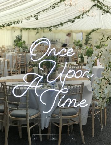Once Upon a Time, Wedding Neon Sign