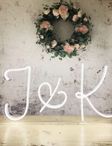 Personalised Couples Initials Wedding Neon
