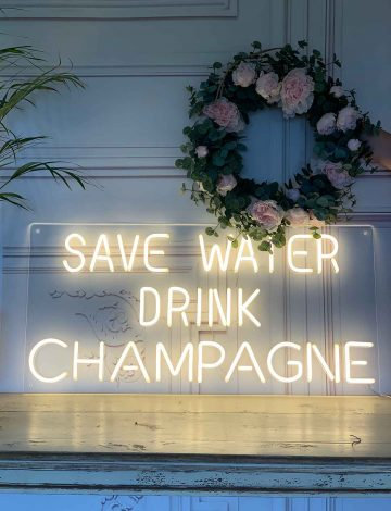 Save Water Drink Champagne – Slight Second