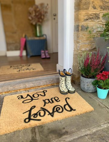 You are Loved / Peace and Love Doormat