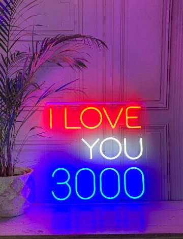 I Love You 3000 Marvel Neon