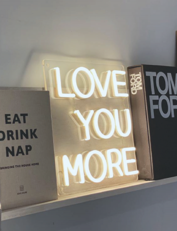 Mini Love You More LED Neon Sign