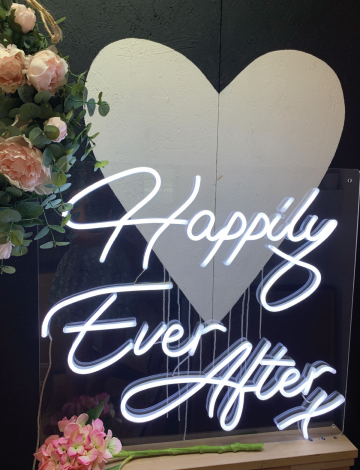 Mini Happily Ever After LED Neon Sign