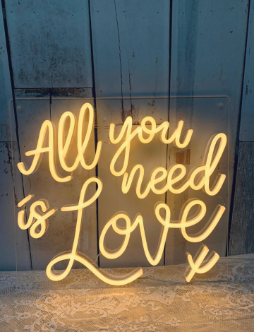 Mini All You Need is Love LED Neon Sign