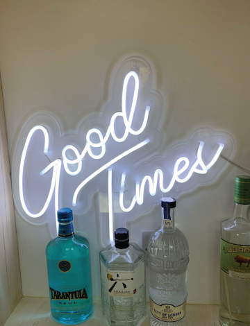 Mini Good Times LED Neon Sign
