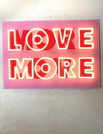 More Love / Love More Meg Tait Collaboration LED Neon Sign