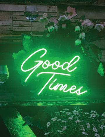 Green Portable Mini Good Times LED Neon Sign
